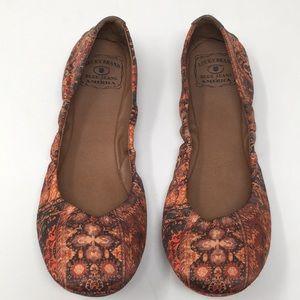 Lucky Brand Ballet Flats Red Blue Slip On Shoe 8.5